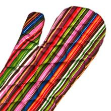 دستکش فر کتان 31 × 14 رزین تاژ طرح راه راه رنگی