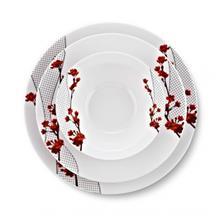 سرویس غذاخوری 24 پارچه شفر طرح Porselen کد 1010