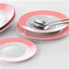 سرويس چيني 28 پارچه غذا خوري چيني زرين ايران سري ايتاليا اف مدل ماربل درجه يک