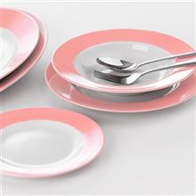 سرويس چيني 28 پارچه غذا خوري چيني زرين ايران سري ايتاليا اف مدل ماربل درجه عالي