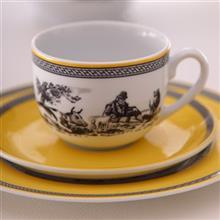 سرويس چيني 28 پارچه غذا خوري چيني زرين ايران سري ايتاليا اف مدل ويليج درجه يک