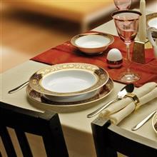 سرویس چینی 28 پارچه غذاخوری چینی زرین ایران سری ایتالیا اف مدل میدنایت درجه عالی