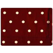 دستمال سفره کتان 36 × 36 رزین تاژ طرح خالدار قرمز