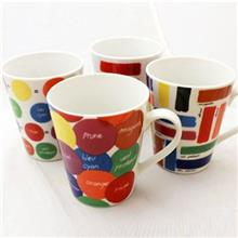 Multiplechoice Colorful 20117 Mug Pack Of 4