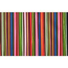 دستمال سفره کتان 36 × 36 رزين تاژ طرح راه راه رنگي