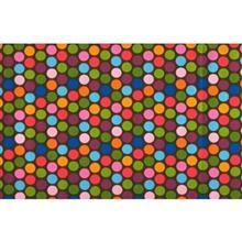دستمال سفره کتان 36 × 36 رزين تاژ طرح خالدار رنگي