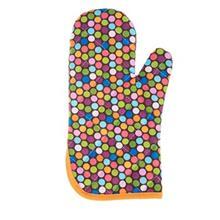 دستکش فر کتان 31 × 14 رزين تاژ طرح خالدار رنگي