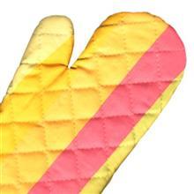 دستکش فر کتان 31 × 14 رزين تاژ طرح رابيد صورتي