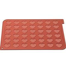 قالب شیرینی سیلیکومارت طرح قلب ماکارونی کد MAC03