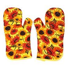 دستکش جفتی فر چاپی 30 × 13 رزین تاژ طرح آفتابگردان