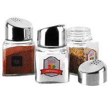 نمک پاش جفتي کرومي زيباسازان مدل سانسي