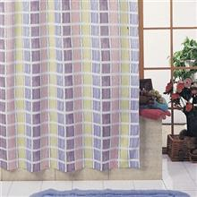 Rezin Taj 200 x 240 Aqua Stripe Shower Curtain
