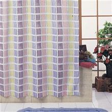 پرده حمام 240 × 200 رزین تاژ طرح Aqua Stripe