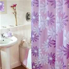 پرده حمام 200 × 140 رزین تاژ طرح شکوفه