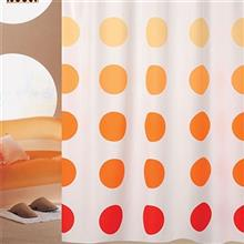 Rezin Taj 200 x 180 Orange Shower Curtain