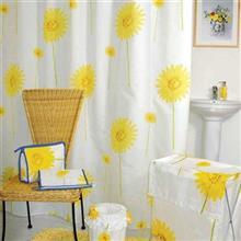 پرده حمام 240 × 200 رزین تاژ طرح گل های آفریقا