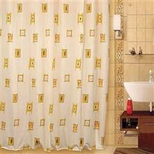 پرده حمام 240 × 200 رزین تاژ طرح براونز
