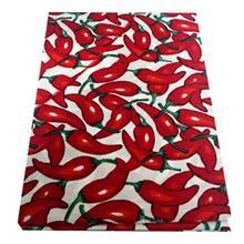 روميزي کتان مستطيلي 180 × 150 رزين تاژ طرح فلفل قرمز