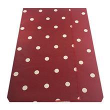 روميزي کتان مربع 150 × 150 رزين تاژ طرح خالدار قرمز