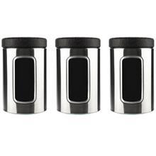 ست ظرف نگهدارنده چاي اورانوس مدل UTS-410 طرح خشدار مشکي