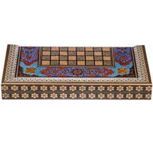 صفحه شطرنج خاتم اثر کروبي مدل ستوني طرح تذهيب طول 50 سانتي متر
