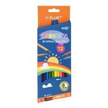 مداد رنگي 12 رنگ اينوکس سري Y.Plus مدل Rainbow