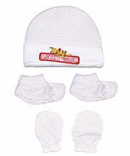 ست کلاه دستکش پاپوش خالدار لاکی بی بی Lucky baby