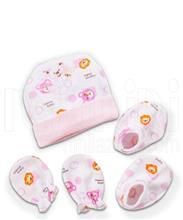 ست کلاه دستکش پاپوش شیر و خرس لاکی بی بی Lucky Baby