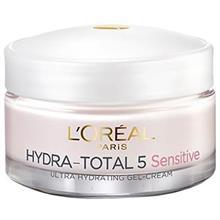 کرم آبرسان روز لورآل سري Hydra Total 5 مدل Sensitive حجم 30 ميلي ليتر