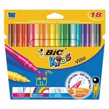 ماژيک رنگ آميزي بيک مدل سري کيدز مدل ويزا - بسته 18 رنگ