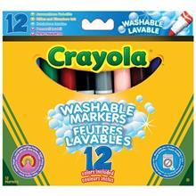ماژیک رنگ آمیزی کرایولا مدل Washable Markers - بسته 12 رنگ