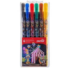 Owner Classic Fine Tip 6 Colors Marker