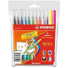 Stabilo Trio A-Z 12 Colors Marker