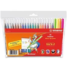 Stabilo Trio A-Z Colour Pencils - Pack of 24