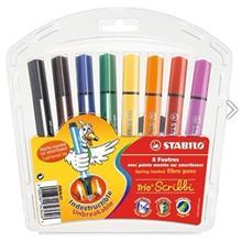 ماژيک رنگ آميزي استابيلو مدل تريو اسکريبي - بسته 8 رنگ