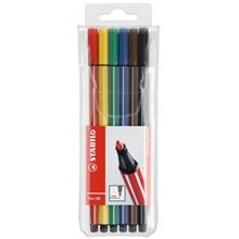 Stabilo Pen 68 Marker - Pack of 6