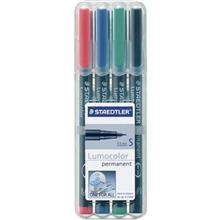 ماژيک چند  منظوره 4 رنگ استدلر مدل Lumocolor Permanent - قطر نوشتار S