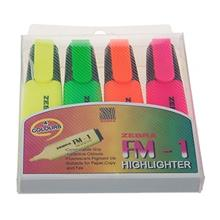 Zebra FM-1 Highlight Marker - Pack of 4