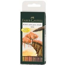ماژيک حرفه اي Faber Castell مدل پيت آرتيست ترا بسته 6 تايي
