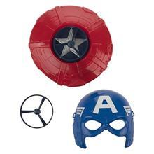 ست ماسک و سپر سوپر هيرو مدل Captain America