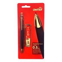 مداد نوکي اونر - کد 113305 با قطر نوشتاري 0.5 ميلي متر همراه با نوک مداد سايز 0.5 ميلي متر