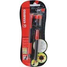 مداد نوکی 2 میلی متری استابیلو مدل Exam Grade به همراه یک بسته نوک و یک تراش