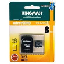 Kingmax Class 4 microSDHC With Adapter - 8GB