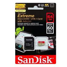 SanDisk Extreme UHS-I U3 Class 10 60MBps 400X microSDXC With Adapter- 64GB