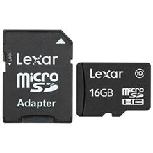 Lexar Class 10 microSDHC With Adapter - 16GB