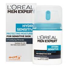کرم مرطوب کننده لورآل سري Men Expert مدل Hydra Sensitive حجم 50 ميلي ليتر