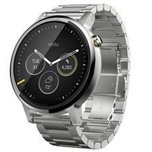 ساعت هوشمند موتورولا مردانه مدل موتو 360 سایز 46 میلی متر (نسل دوم) با بند فلزی نقره ای