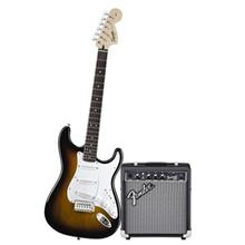 پکیج گیتار الکتریک فندر مدل Squier Affinity Series Stratocaster Brown Sunburst