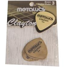 Clayton Brass Metallics Guitar Picks 3 Pack
