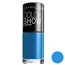 لاک ناخن  ميبلين مدل Vao Color Show Superpower Blue 654